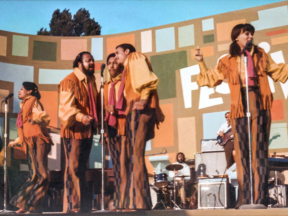 """The 5th Dimension performs at the Harlem Cultural Festival in 1969, featured in the documentary """"Summer of Soul."""" Photo Courtesy of Searchlight Pictures. © 2021 20th Century Studios. All Rights Reserved."""