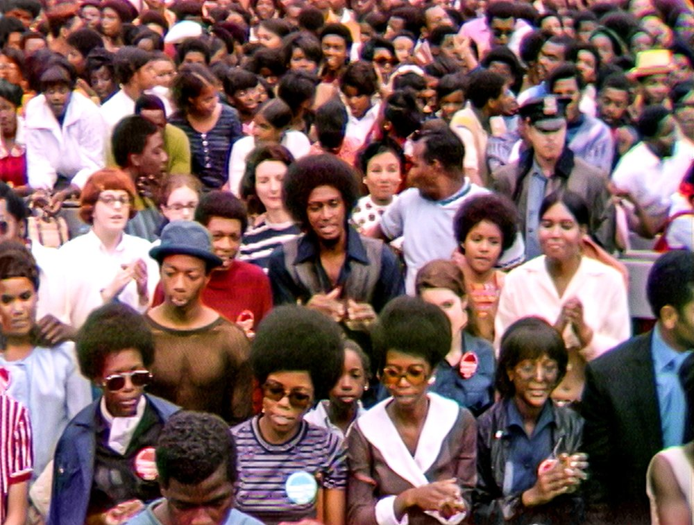 """The Harlem Cultural Festival in 1969, featured in the documentary """"Summer of Soul."""" Photo Courtesy of Searchlight Pictures. © 2021 20th Century Studios. All Rights Reserved."""