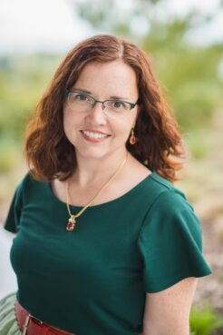 """Rosalyn Eves, author of """"Beyond the Mapped Stars"""" and other novels."""