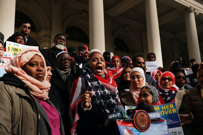 World Hijab Day started in the U.S. and is one way women have asserted pride in wearing a headscarf. (Spencer Platt/Getty Images)