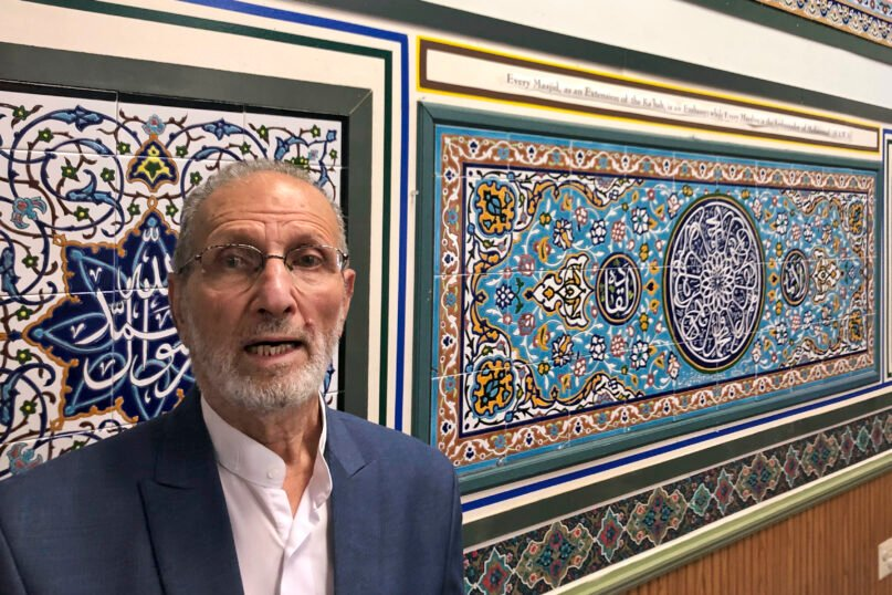 Abolfazl Nahidian, of the Manassas Mosque in Manassas, Virginia, poses after a news conference Aug. 10, 2021, in which he and other Muslim leaders asked the Biden administration to release a set of religious tiles that were confiscated because the shipment was considered a violation of sanctions on Iran. (AP PhotoMatt Barakat)