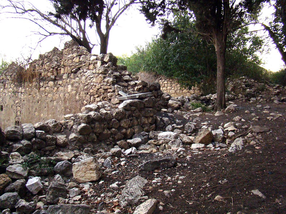 Ruins of the depopulated village of Biram in northern Israel. Photo by Anita/Creative Commons