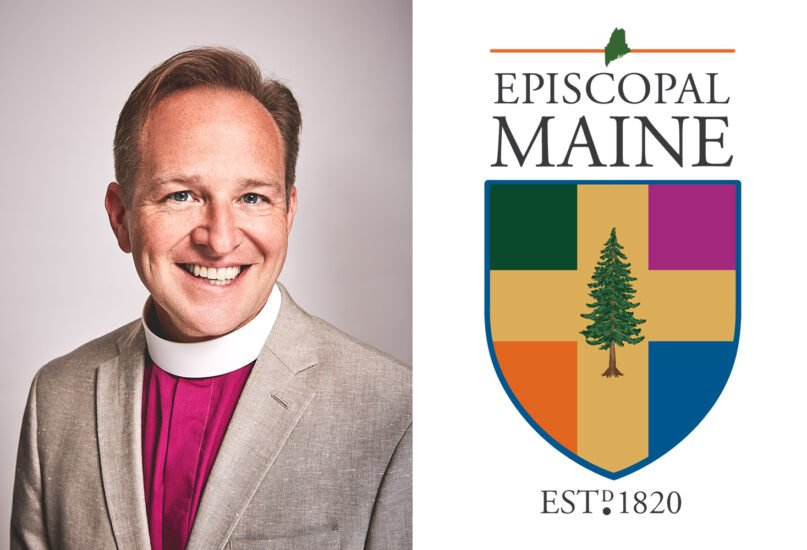 Bishop Thomas J. Brown and logo for the Episcopal Diocese of Maine. Photo by Alice & Chris; courtesy logo