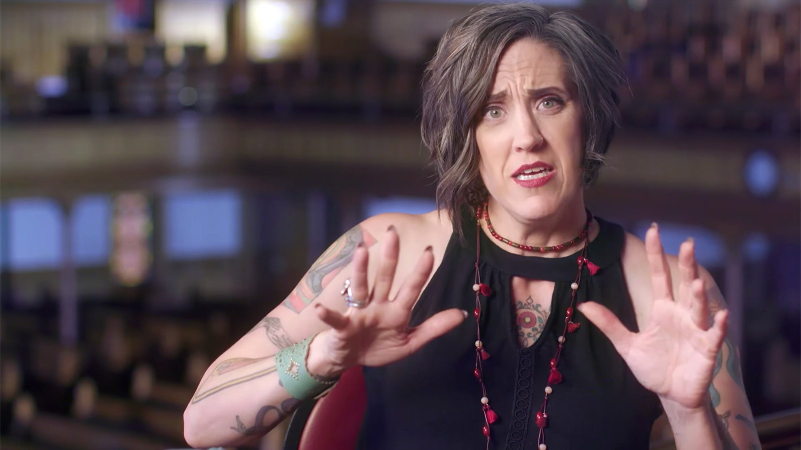 The Rev. Nadia Bolz-Weber discusses forgiveness in a video on her website. Video screengrab