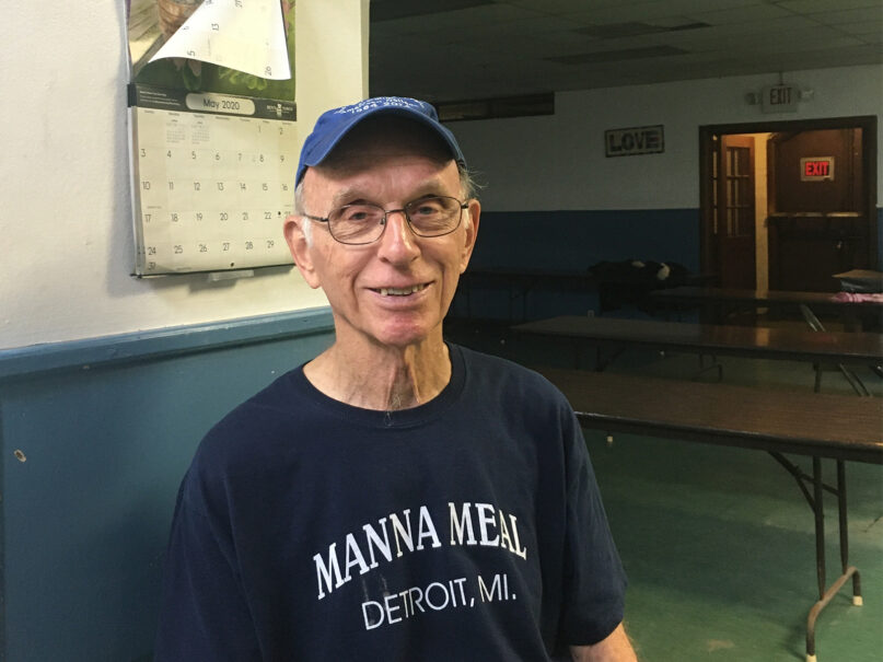 The Rev. Tom Lumpkin poses in the basement of St. Peter's Episcopal Church, Friday, July 30, 2021, in Detroit. RNS photo by Renée Roden