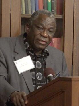 Jacob Olupona speaks at Harvard Divinity School in 2018. Video screengrab