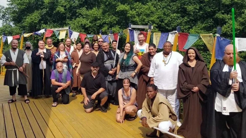 A gathering of Jedi. Photo courtesy of Rosalyn Johnson