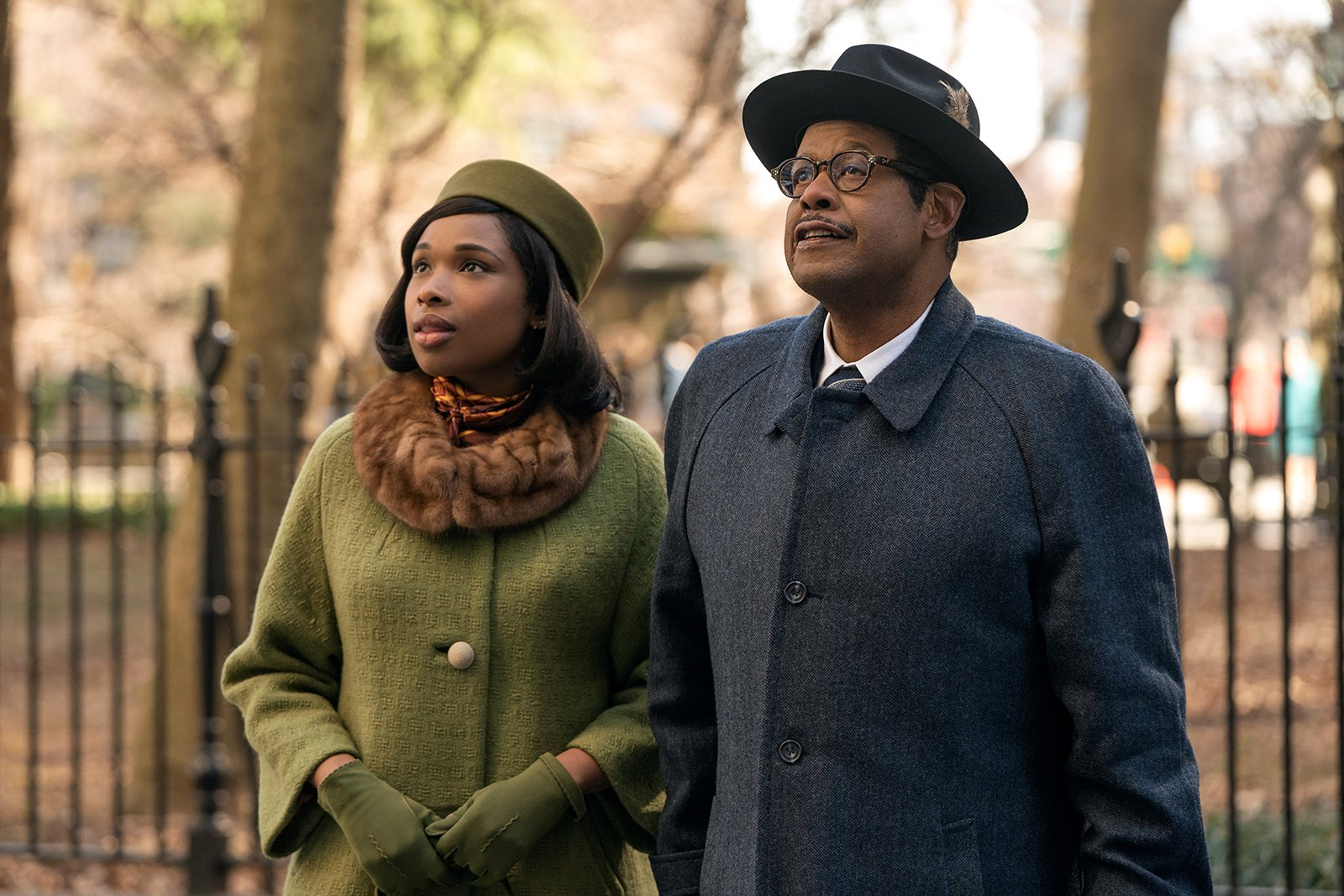 """Jennifer Hudson, left, stars as Aretha Franklin and Forest Whitaker as her father C.L. Franklin in """"Respect,"""" a Metro Goldwyn Mayer Pictures film. Photo by Quantrell D. Colbert"""
