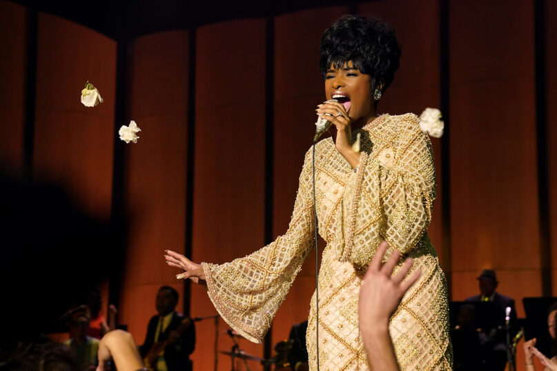 """Jennifer Hudson stars as Aretha Franklin in """"Respect,"""" a Metro-Goldwyn-Mayer Pictures film. Photo by Quantrell D. Colbert/© 2021 Metro-Goldwyn-Mayer Pictures Inc. All Rights Reserved."""
