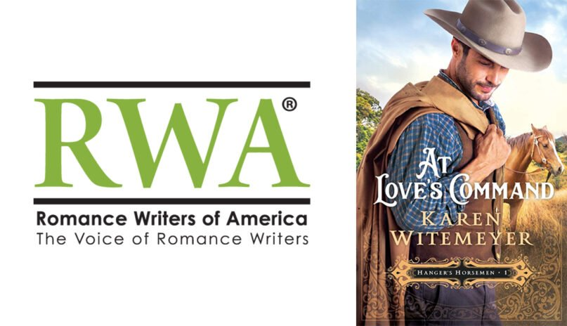 """The Romance Writers of America logo and the cover of """"At Love's Command."""" Courtesy images"""