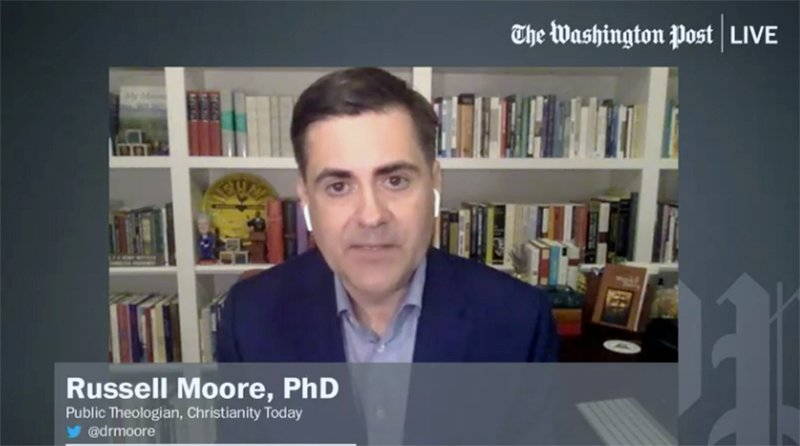 Russell Moore participates in a Washington Post Live interview Aug. 10, 2021. Video screen grab