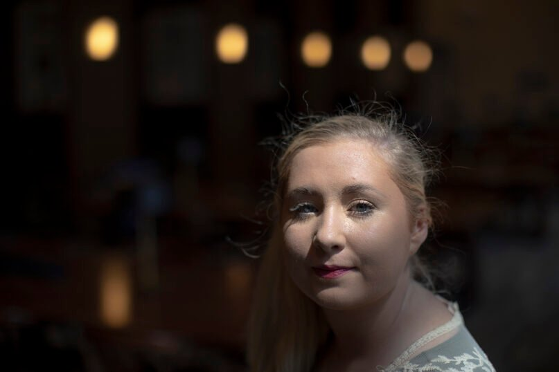 Hannah-Kate Williams, photographed in Lexington, Kentucky, on June 26, 2021, has faced online and physical harassment since becoming a leading voice for Southern Baptist sex abuse victims. Photo by Silas Walker