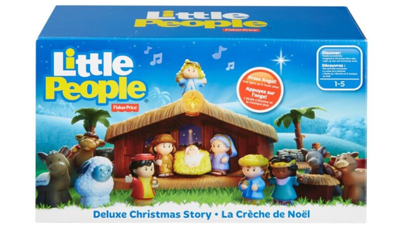 Fisher-Price's deluxe Little People Christmas Story playset. Photo via Fisher-Price.com