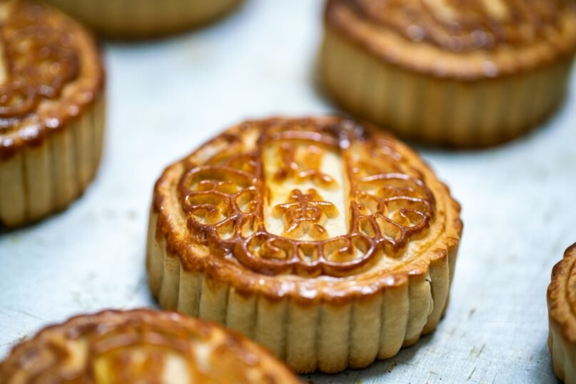 A popular delicacy eaten during the Mid-Autumn Festival is the mooncake. (Xvision/Moment via Getty Images)