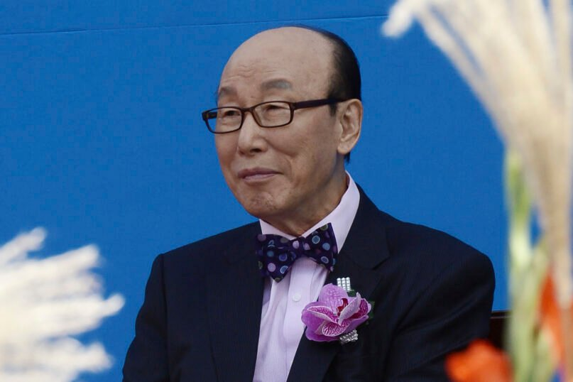 In this Oct. 11, 2013, photo, the Rev. David Yonggi Cho attends the Grand Prayer Rally for Peace of the Korean Peninsula and for the Hope of the World Church at the World Cup Stadium in Seoul, South Korea. Cho, whose founding of the biggest South Korean church once stood as a symbol of the postwar growth of Christianity in the country before that achievement was tainted by corruption and scandals, died Sept. 14, 2021. He was 85. (Hong Chan-sun/Newsis via AP)