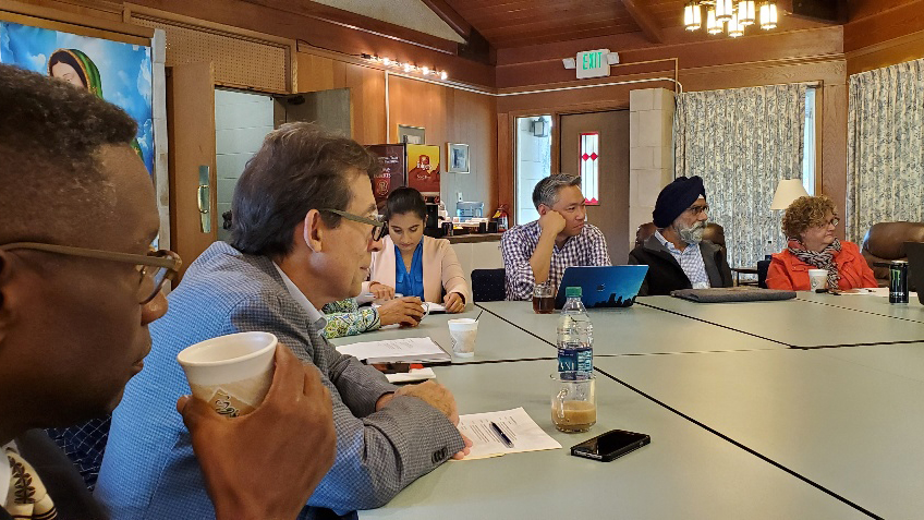 Tony Kireopoulos, second from left, participates in a Sikh Christian dialogue in 2019. Courtesy photo