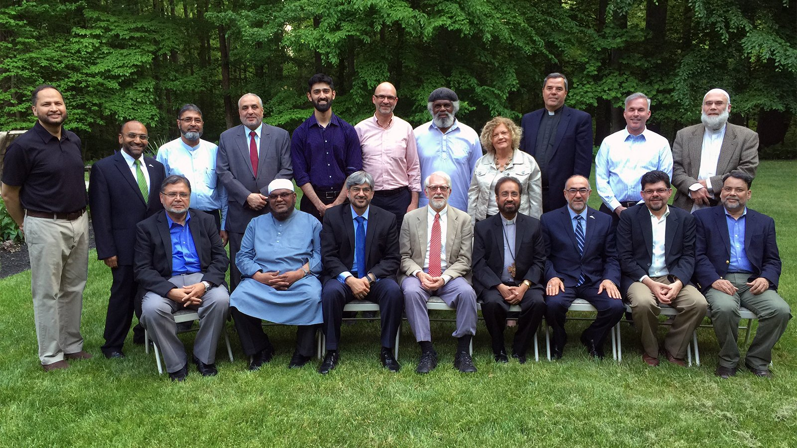 Participants pose for a photo during an interfaith meeting of the National Council of Churches and the US Council of Muslim Organizations. Photo courtesy of Imam Naeem Baig