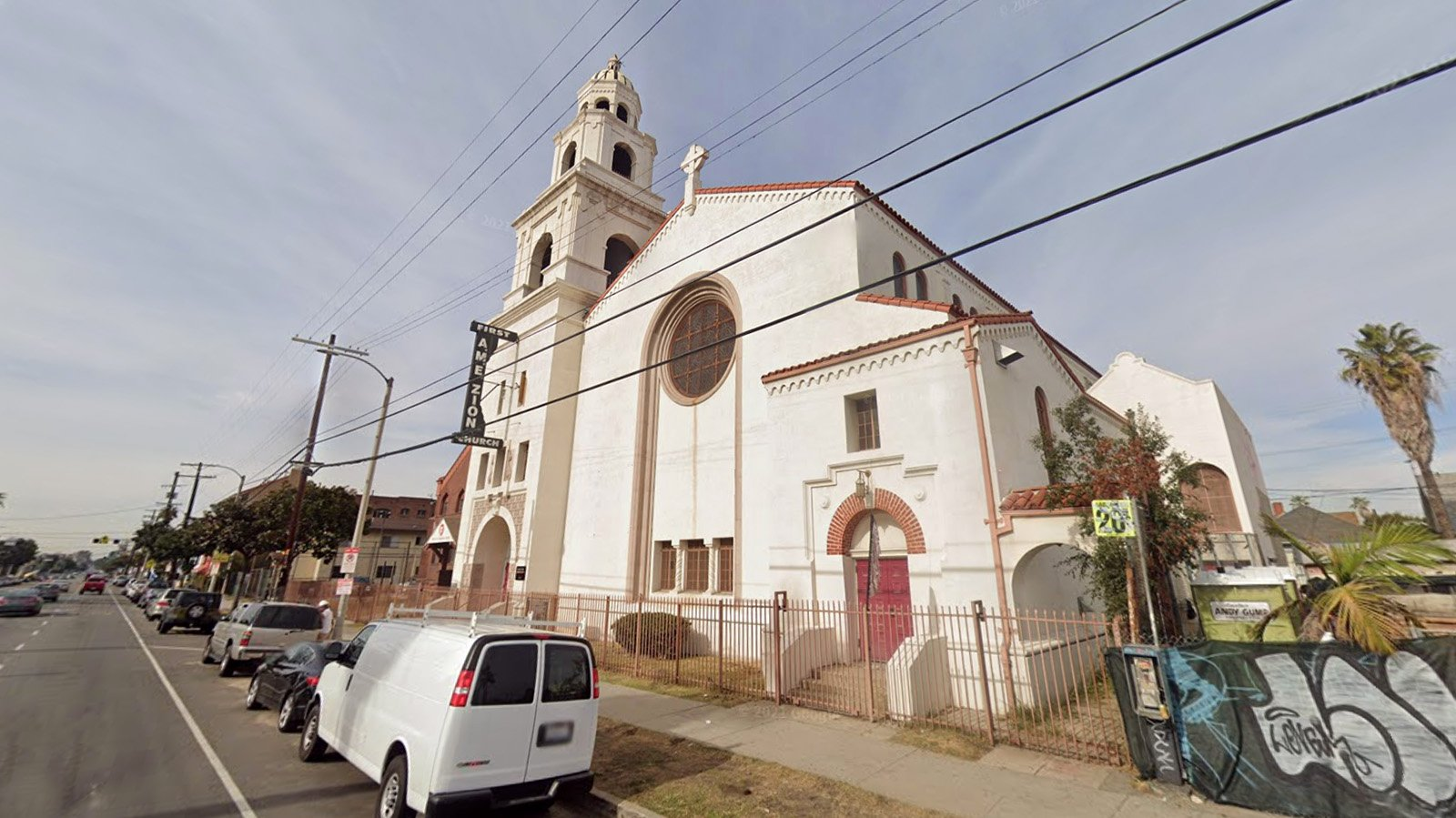First AME Zion Church of Los Angeles is tied up in the U.S. Bankruptcy Court of the Eastern District of California. Image courtesy of Google Maps