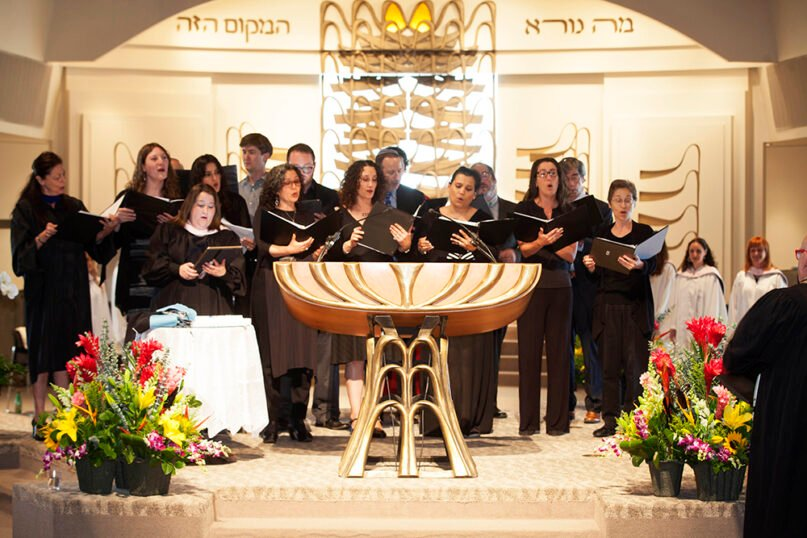 The graduation choir performs during a 2018 graduation for the Academy for Jewish Religion California. Photo courtesy of the Academy for Jewish Religion California