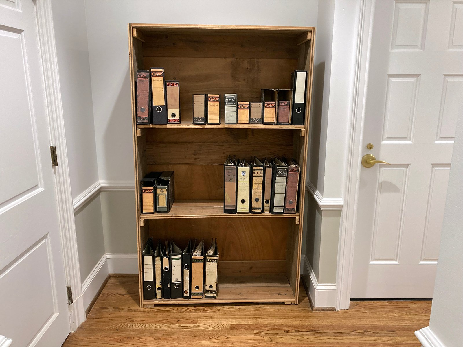 The Anne Frank Center, in Columbia, South Carolina, shows a recreation of the hidden bookshelf behind which was a door to the secret annex where Anne Frank and her family hid from 1942 to Aug. 4, 1944, when they were discovered and sent to concentration camps. Anne died of typhus at Bergen Belsen in 1945. RNS photo by Yonat Shimron
