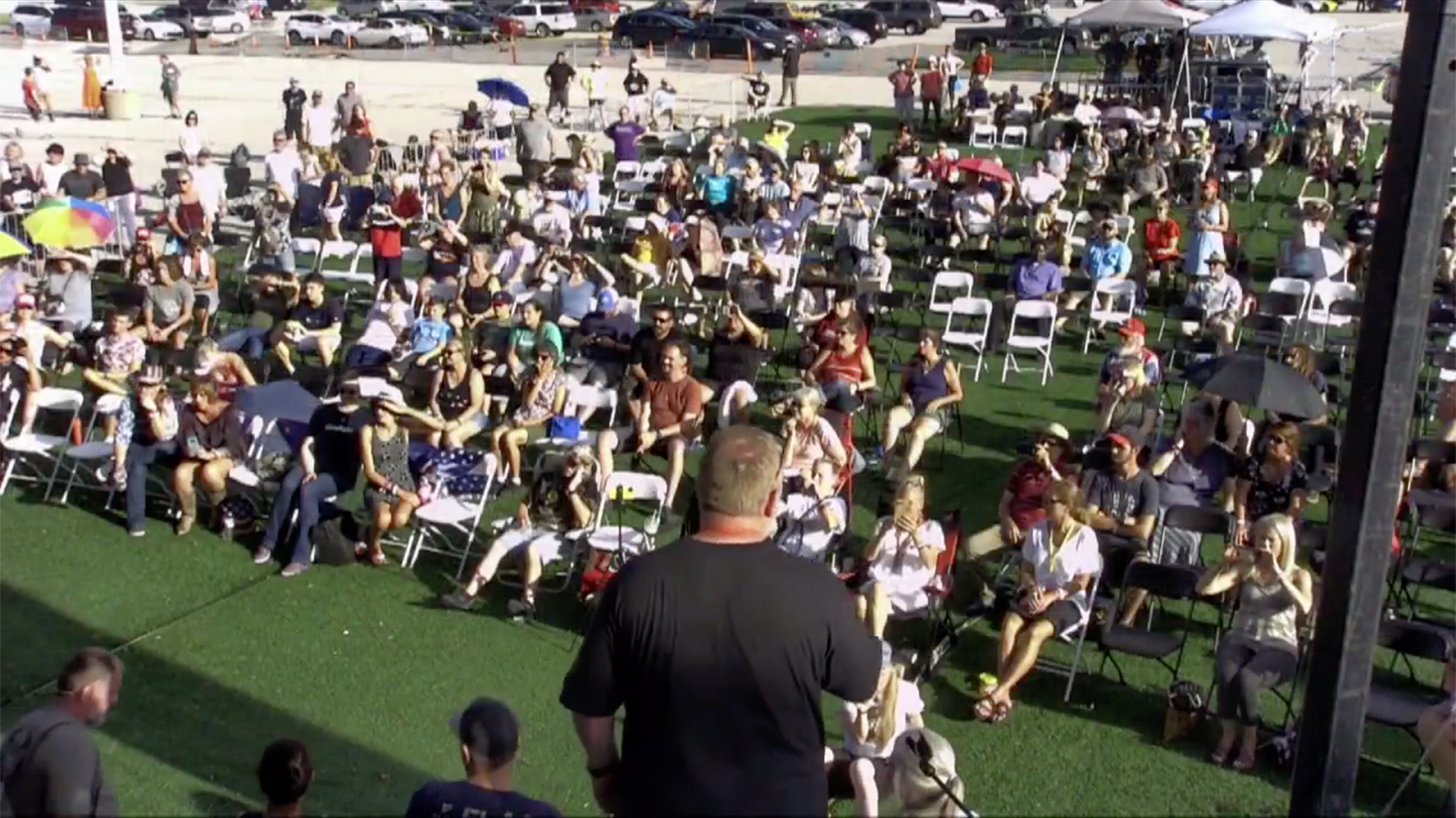 The crowd at Bards Fest on Aug. 29, 2021, in St. Louis. Video screengrab