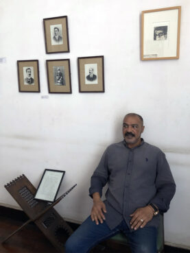 Mohammed El-Said at the apartment museum of poet Constantine Cavafy in Alexandria, Egypt, in Aug. 2021. RNS photo by Joseph Hammond