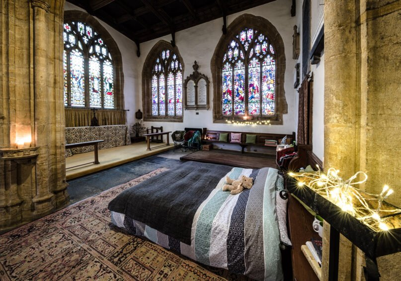 Champing, or church camping, at the Church of All Saints in Langport, Somerset, England. Photo by Joseph Casey