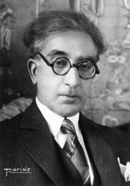 Constantine Cavafy in 1929. Unknown photographer, signed Pacino/Wikipedia/Creative Commons