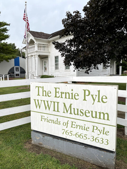 The Ernie Pyle World War II Museum reminds residents of the towns famous former resident and newspaper columnist Ernie Pyle. Photo courtesy of Dana Trent