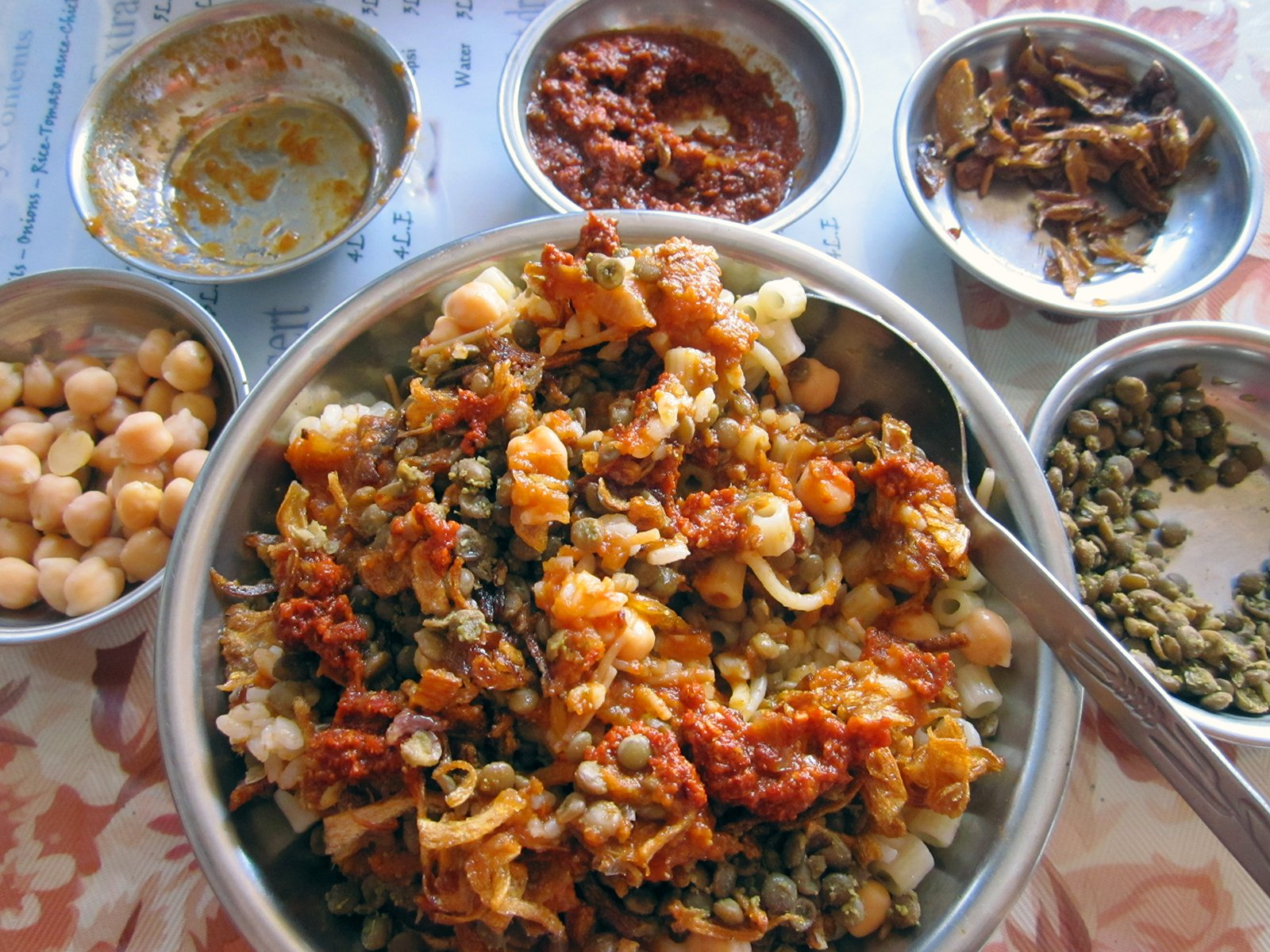 Koshari is the national dish of Egypt. Photo by Wedstock 2011/Flickr/Creative Commons