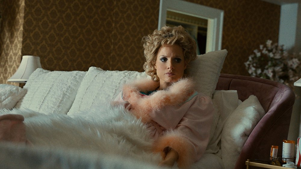 """Actor Jessica Chastain portrays Tammy Faye Bakker in the upcoming biopic, """"The Eyes of Tammy Faye."""" Photo courtesy Searchlight Pictures"""