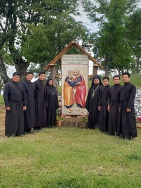 Clergy and seminarians of the St. Andrew's Seminary in Aguacate, Guatemala. Photo by Fr. Evangelios Pata and Fr. Thomas Manuel