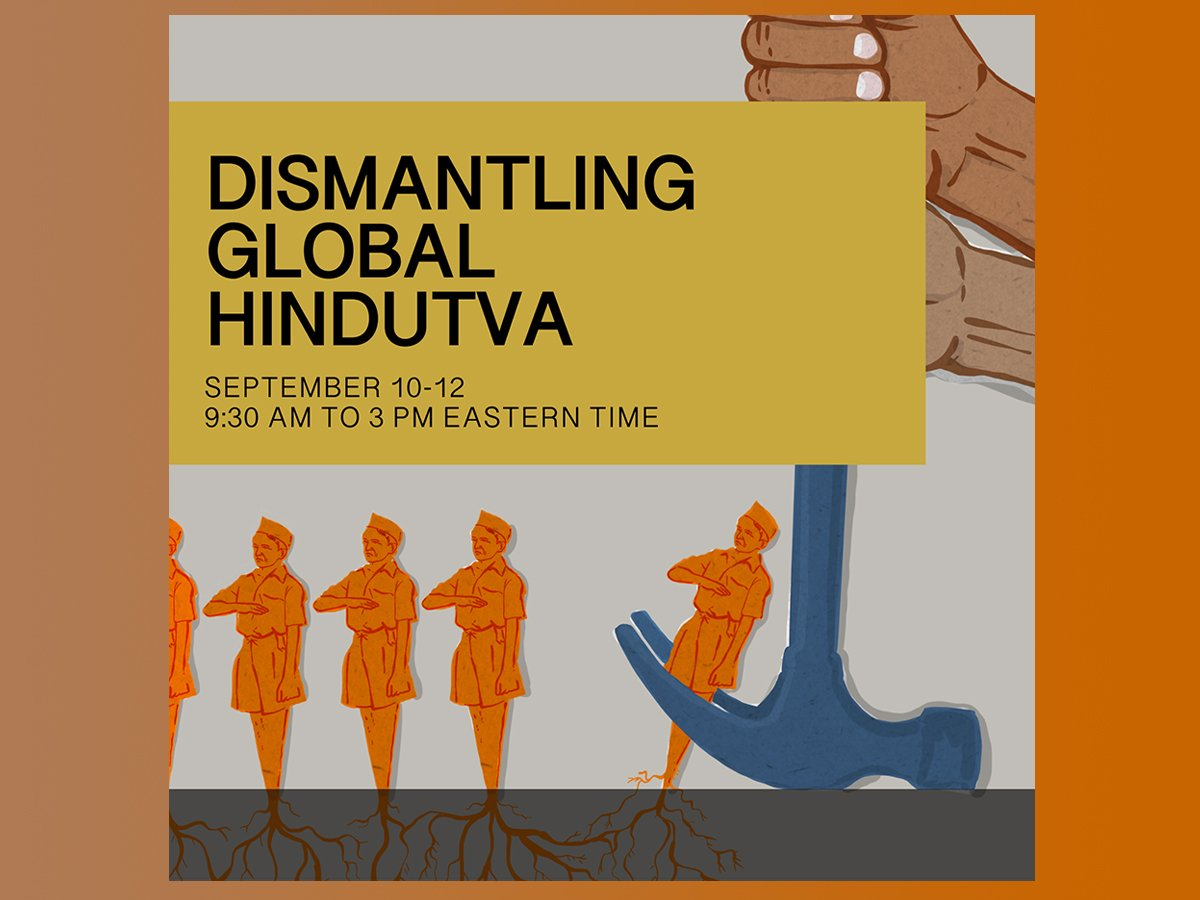 Poster for the Dismantling Global Hindutva conference. Courtesy image