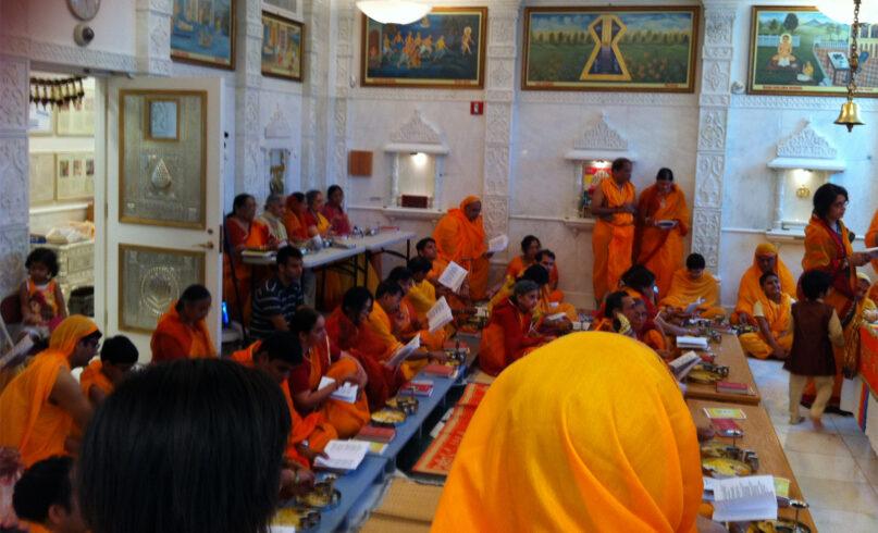 Jains celebrate the Das Lakshana (Paryushan) festival at the Jain Center of America in September 2012 in New York City. Photo bv=y Aayush18/Wikipedia/Creative Commons