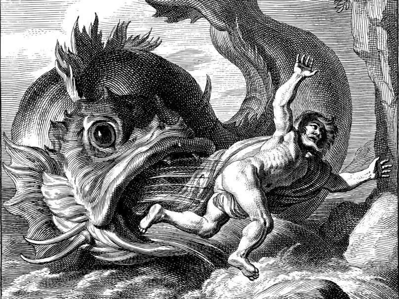 An illustration of the prophet Jonah and the giant fish. Image by Gordon Johnson/Pixabay/Creative Commons