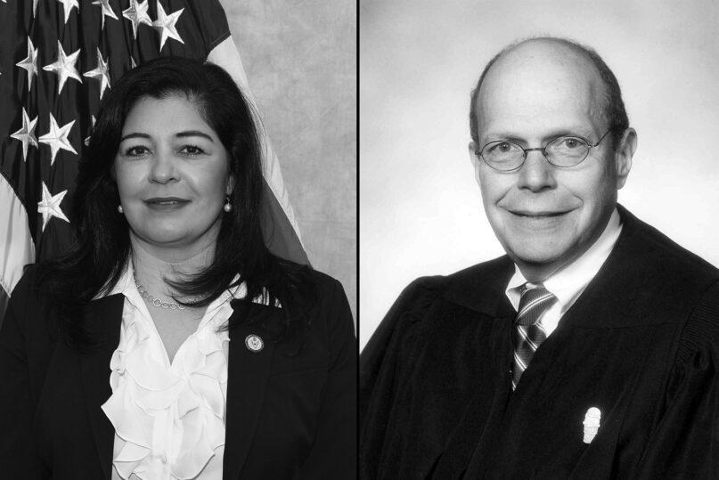 Saima Mohsin, left, acting U.S. attorney in Detroit, and U.S. District Judge Bernard Friedman. Courtesy photos