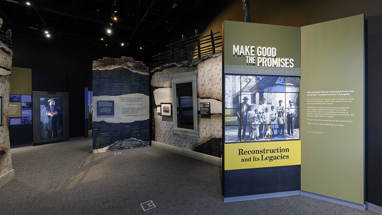 """The exhibition """"Make Good the Promises: Reconstruction and Its Legacies"""" opens Sept. 24, 2021, at the National Museum of African American History and Culture in Washington. Photo by Josh Weilepp/NMAAHC"""