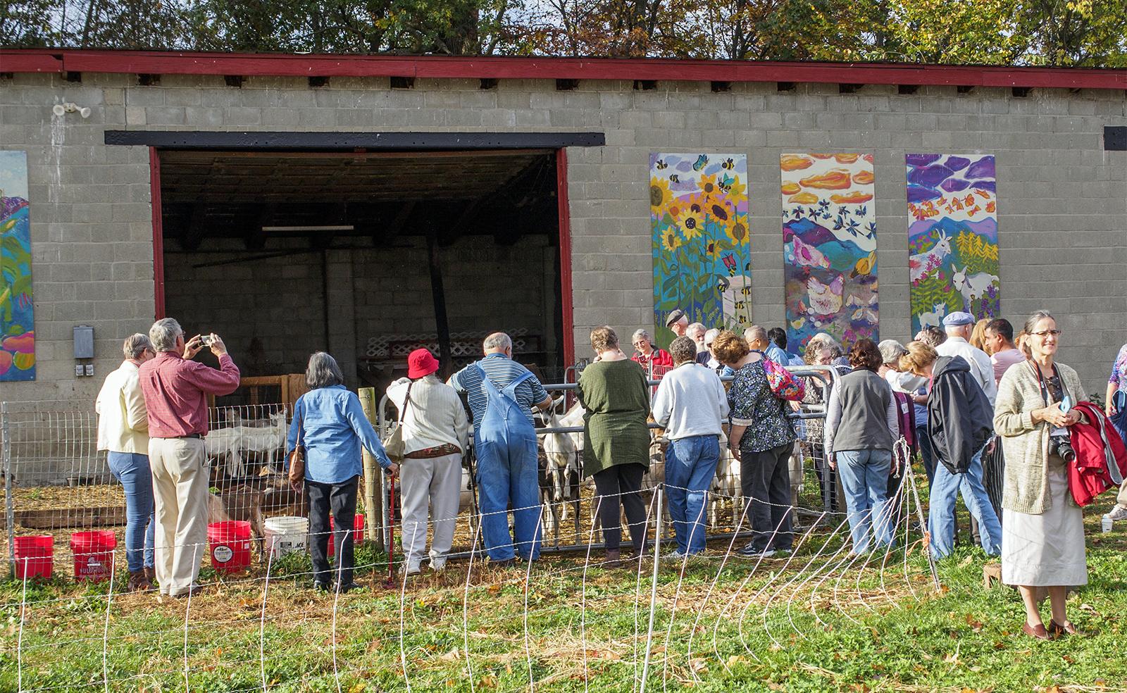 A Rural Chaplains Association focus event at a Vermont farm in Oct. 2017. Photo by Bob Klingler