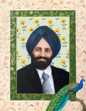 A portrait painted of Balbir Singh Sodhi. Courtesy image