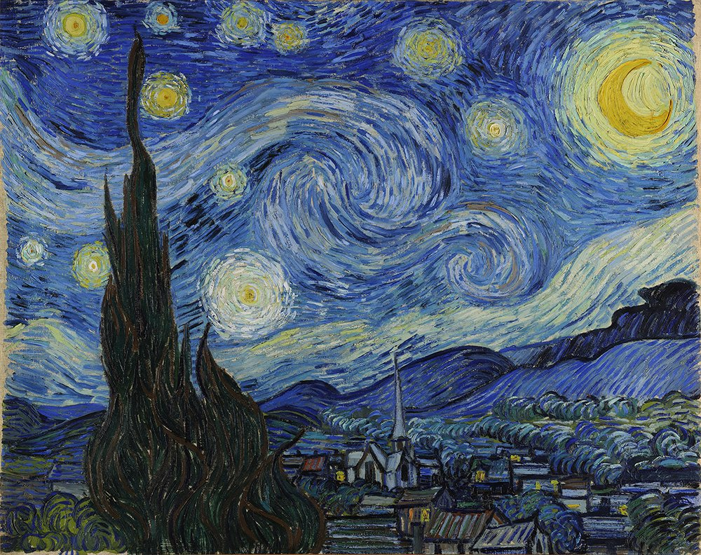 """""""Starry Night"""" by Vincent Van Gogh. Image courtesy of Wikipedia/Creative Commons"""