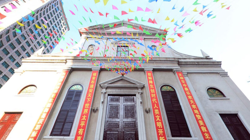 The Cathedral of St. Joseph in Wuhan, China. Image via Baidu.com