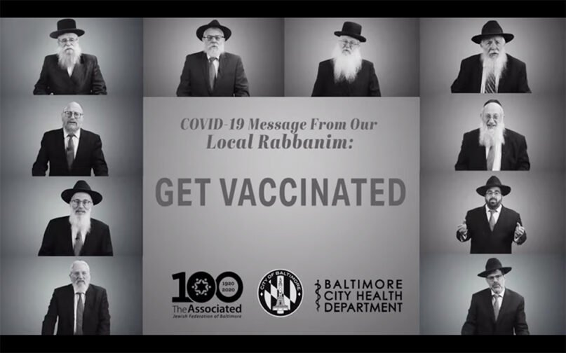 The Baltimore City Health Department partnered with local rabbis to make a video public service announcement supporting COVID-19 vaccines. Screengrab via Youtube/Baltimore City Health Department