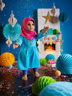 The American Girl Cultural Celebration Collection's Eid al-Fitr doll outfit and accessories. Photo courtesy of Mattel
