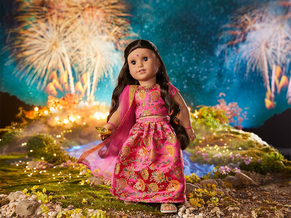 American Girl Cultural Celebration Collection Diwali doll outfit and accessories.  Photo courtesy of Mattel
