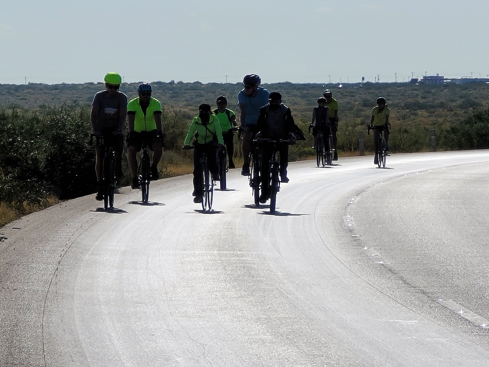 We The People Ride participants bike nar the U.S.-Mexico border. Photo courtesy of Vote Common Good