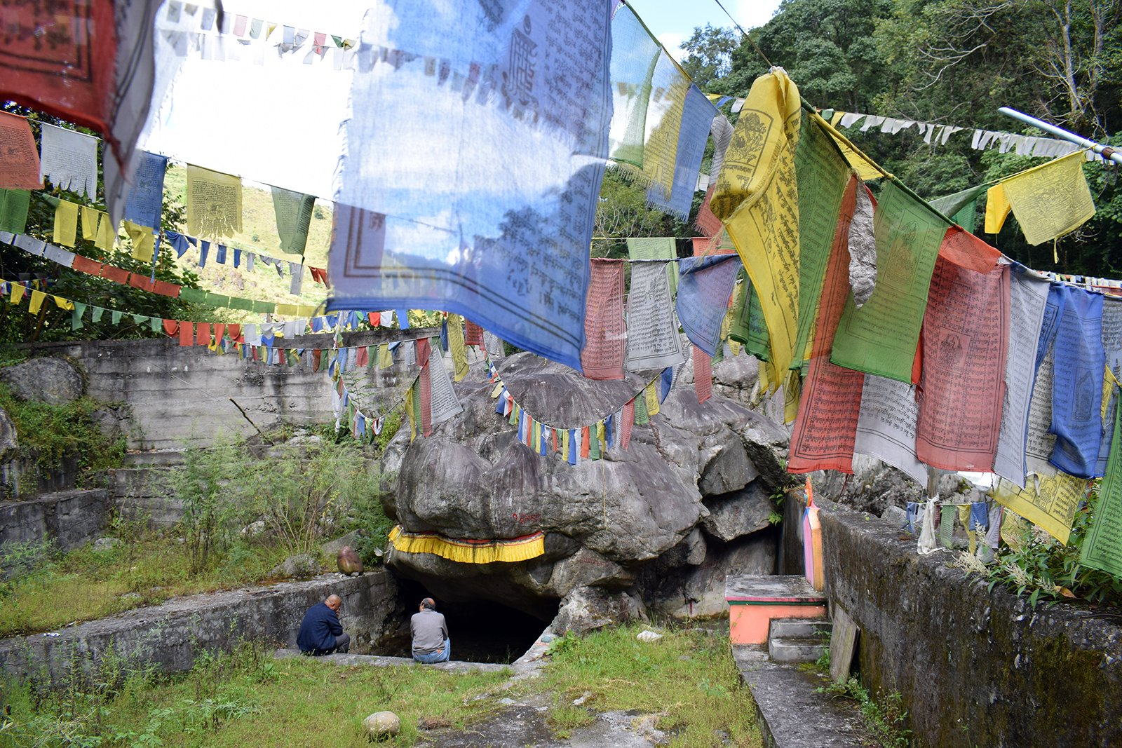 Indigenous Monpas are worried that the rock cave where Tantric Buddhism mystic Guru Padmasambhava meditated will be lost if the hydropower projects take off in Tawang district in Arunachal Pradesh, India. RNS photo by Priyadarshini Sen
