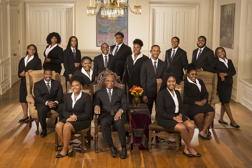 The Fisk Jubilee Singers in Jubilee Hall at Fisk University on Oct. 29, 2020. Photo by Bill Steber and Pat Casey Daley