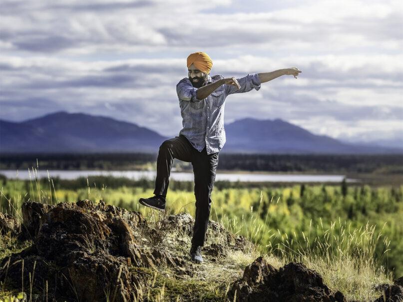 Gurdeep Pandher dances in Canada in September 2021. Photo by Stewart Burnett Photography