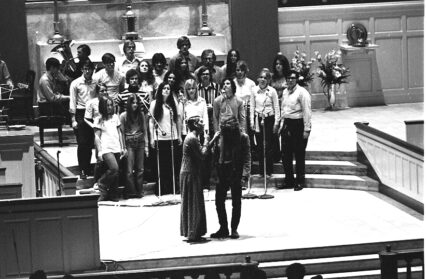"""In 1971, Gettysburg college put on an illegal production of """"Jesus Christ Superstar."""" Although they called it a """"dress rehearsal"""" and didn't advertise the final show to avoid attention, more than 1,200 people attended the performance. Courtesy of Special Collections/Musselman Library, Gettysburg College"""