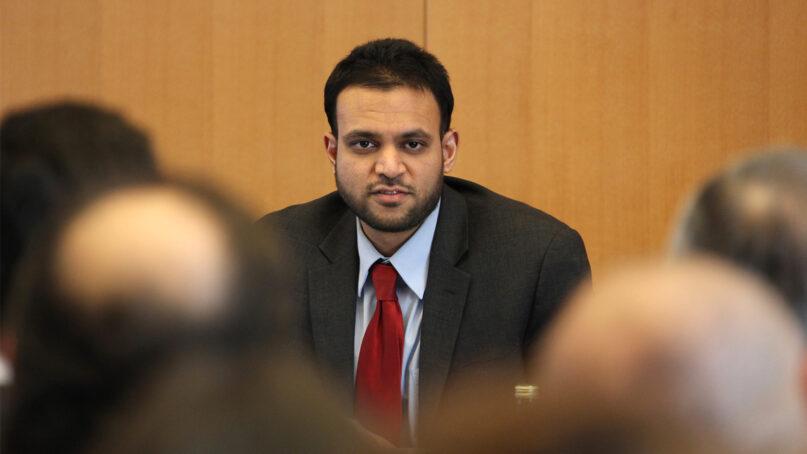 Rashad Hussain in Geneva in 2011. Photo by Eric Bridiers/US Mission Geneva/Creative Commons